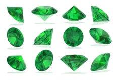 Tourmaline Chrome Diamonds set on White Royalty Free Stock Images