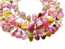 Tourmaline gemstone beads necklace jewelery Stock Photo