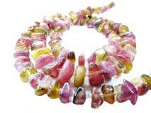 Tourmaline gemstone beads necklace jewelery Royalty Free Stock Images
