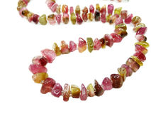 Tourmaline gemstone beads necklace jewelery Stock Image