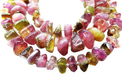 Tourmaline gemstone beads necklace jewelery Stock Photo