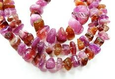 Tourmaline gemstone beads necklace jewelery Royalty Free Stock Photos
