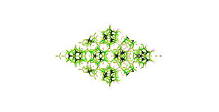 Tourmaline molecular structure isolated on white. Tourmaline is a crystalline boron silicate mineral compounded with elements such as aluminium, iron, magnesium Stock Photo