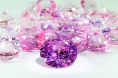 Tourmaline pink diamonds gemstones Stock Images