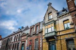 Tournai domy, Belgia Zdjęcia Royalty Free