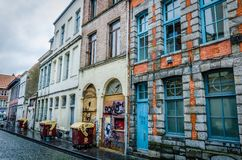 Tournai domy, Belgia obrazy stock