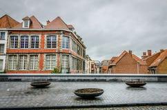 Tournai houses, Belgium stock photo