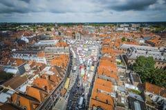 Tournai Market in Belgium. Stock Photography