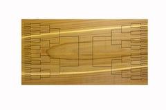 Tournament of 64 Bracket on Wood. En background Stock Photos