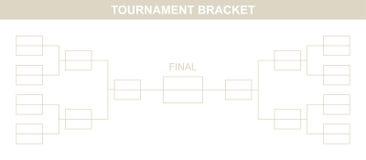 Tournament Bracket. Stock Photo