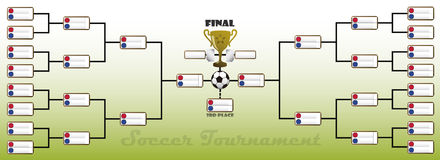 Tournament Bracket. Illustration of a Soccer Tournament Bracket Royalty Free Stock Photos