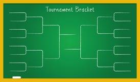 Tournament Bracket On School Board Royalty Free Stock Photos