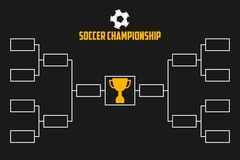 Tournament Bracket. Soccer championship scheme with trophy cup. Football sport vector. Tournament Bracket. Soccer championship scheme with trophy cup. Football Stock Photo