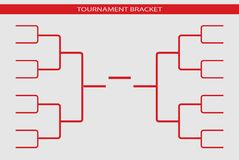 Tournament bracket vector. Championship template. Web icon royalty free illustration