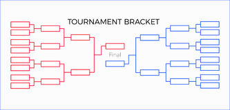 Tournament Bracket. Vector illustration  red and  blue Stock Photo