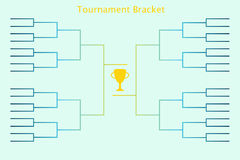 Tournament bracketology. Tournament bracket. Vector illustration of tournament bracket for sport championship in football, basketball, soccer, tennis and other Stock Images