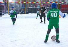 Tournament on minifootball Royalty Free Stock Photo