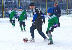Tournament on minifootball Royalty Free Stock Images