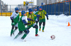 Tournament on minifootball Stock Photos