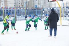 Tournament on minifootball Stock Photo