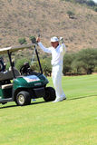 Tournament presenter and grand master Gary Player after the perf Stock Images