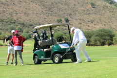 Tournament presenter and grand master Gary Player playing the pe Royalty Free Stock Photos