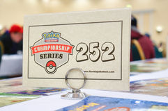 Tournament table tag. Taken in florida Stock Images