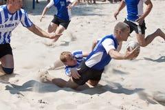 Tournamet da praia do rugby Imagens de Stock