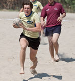 Tournamet da praia do rugby Foto de Stock
