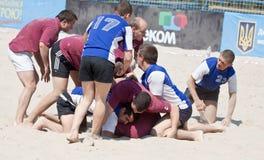 Tournamet de la playa del rugbi Imagen de archivo