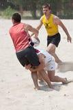 Tournamet de la playa del rugbi Fotografía de archivo libre de regalías