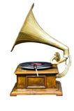 Tourne-disque de phonographe de remontage de vintage photographie stock libre de droits