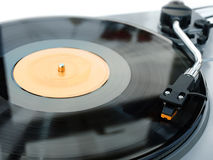 Tourne-disque et aiguille de vinyle photos stock