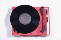 Tourne-disque rouge Photographie stock