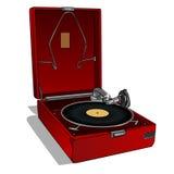 Tourne-disque rouge Photo stock