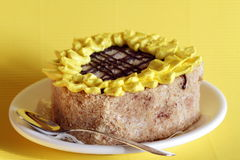 Tournesol de gâteau Image libre de droits