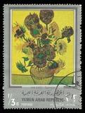 Tournesols de peinture par Gauguin Images stock