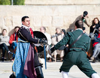 Tourney in the castle  St. Johns Cavalier, Malta Royalty Free Stock Photo