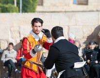 Tourney in the castle  St. Johns Cavalier, Malta Stock Photos