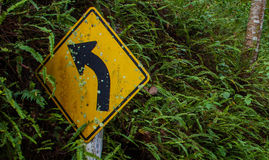 Tournez à gauche Image libre de droits