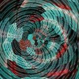 Tournez l'effet tricoté hexagonal de modèle de patchework en turquoise de sarcelle d'hiver et wine brun, couleur impeccable ombra image libre de droits
