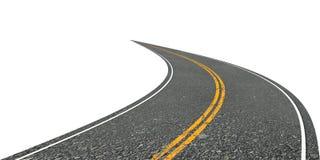 Tournez la route Image libre de droits