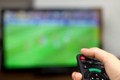 Tournez la TV 'Marche/Arrêt' images libres de droits