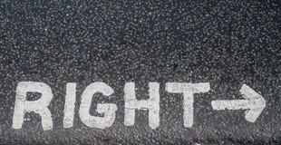 Tournez le bon signe Photographie stock libre de droits