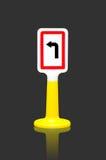 Tournez le poteau de signalisation gauche Photographie stock