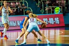 Tournoi de basket-ball de filles Photographie stock libre de droits