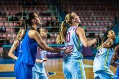 Tournoi de basket-ball de filles Photographie stock