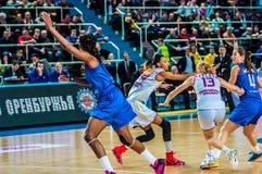 Tournoi de basket-ball de filles Images libres de droits