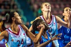 Tournoi de basket-ball de filles Images stock
