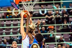 Tournoi de basket-ball de filles, Photo libre de droits